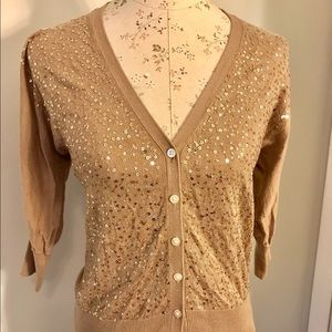 Old Navy 3/4 sleeve sequin cardigan